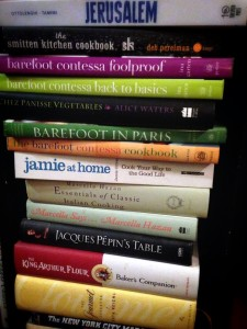 Just a few of the cookbooks I use for inspiration