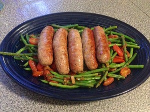 Grilled Sausages w Beans and Tomatoes_Web