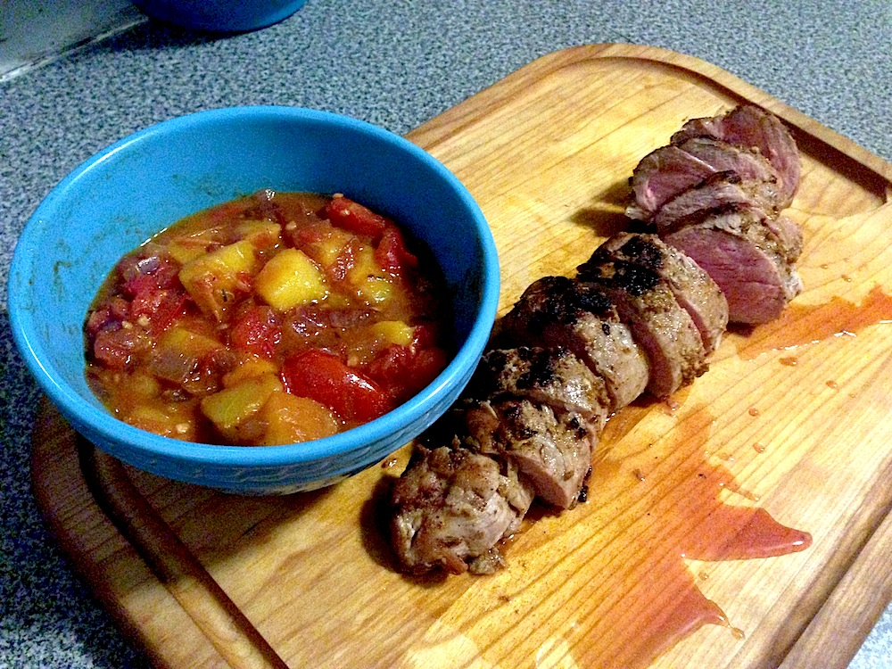 Pork Tenderloin With Peach Compote Recipe — Dishmaps