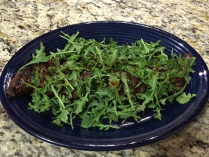 Soy Lemon Steak w Arugula